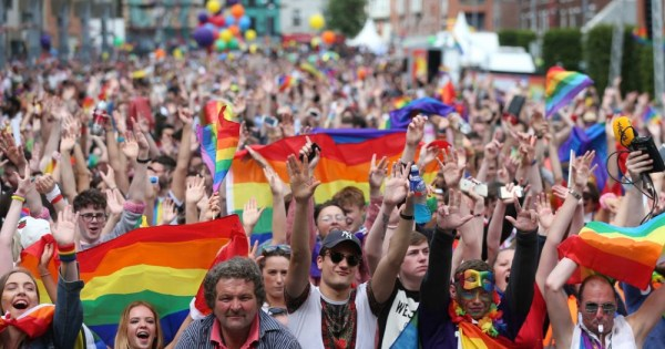 Pride celebrations in Dublin