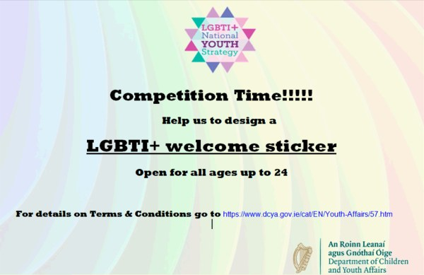 LGBT+ Youth Strategy Sticker Competition Flyer