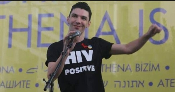 Zak Kostopoulos at a rally.
