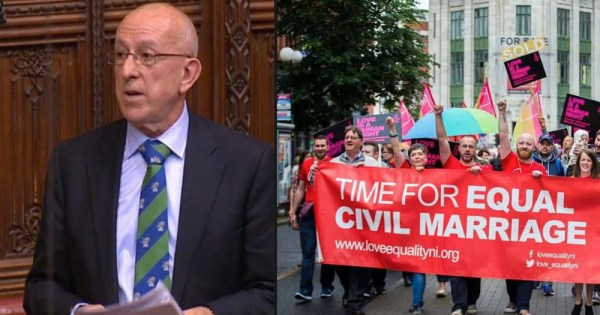 Lord Hayward and marriage equality campaigners