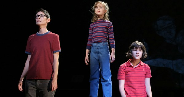 Three actresses representing different ages of a character from the musicals Fun Home