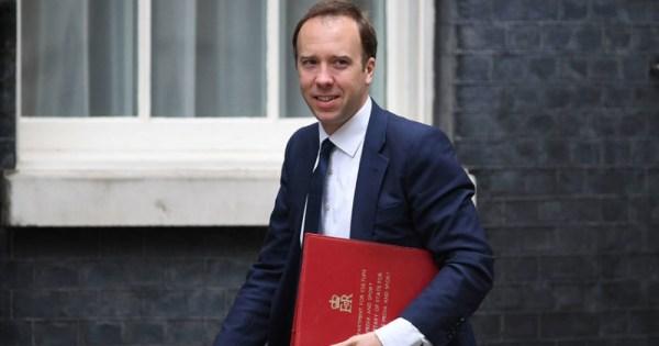 Health Secretary for the UK government Matt Hancock