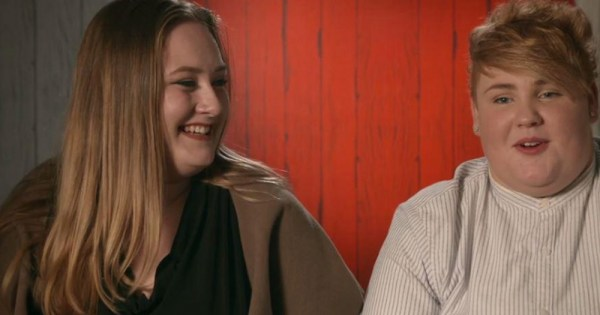First Dates' First Proposal - Shannon and Ciara on the dating show.