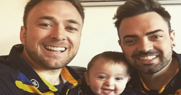 Jay, Aaron and their son.