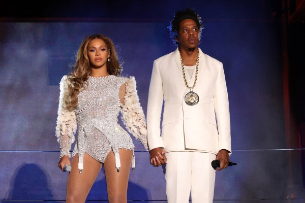 Beyonce and Jay Z at an awards ceremony