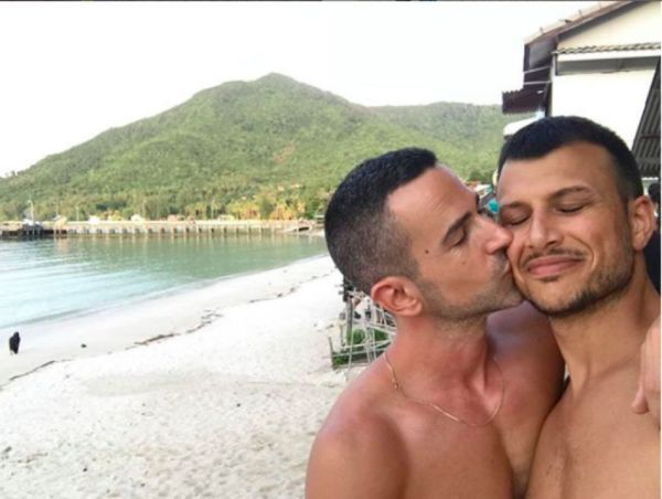 Eurovision host Assi Azar with his husband
