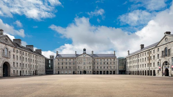 The new location of Dublin Pride Block Party 2019Clarke Square, National Museum of Ireland - Decorative Arts & History, Collins Barracks, Benburb Street, Dublin 7, photographed 13 August 2018