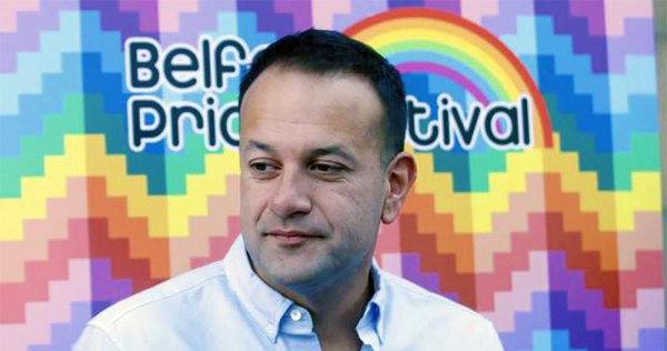 Taoiseach Leo Varadkar at Belfast Pride, calling for marriage equality in the North.