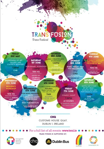 TRANS-FUSION Trans Arts Festival lineup