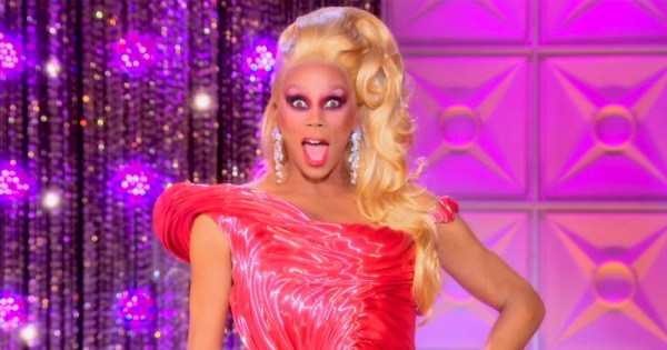 Drag queen RuPaul reacts to a shocking moment