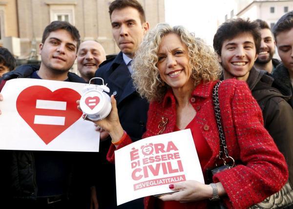 Monica Cirinnà, the Senator who first drafted the civil unions bill