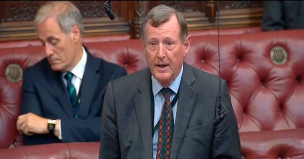 David Trimble addresses the House of Lords.