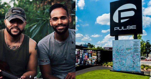 "Left: ""Ex-gay"" Pulse shooting survivors Luis Javier Ruiz and Angel Colon, Right: Pulse nightclub, Orlando"