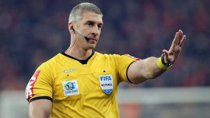 Brazil referee Anderson Daronco who stopped match over homophobic chants