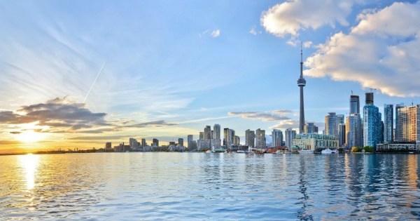 Panoramic view of skyscrapers in Toronto