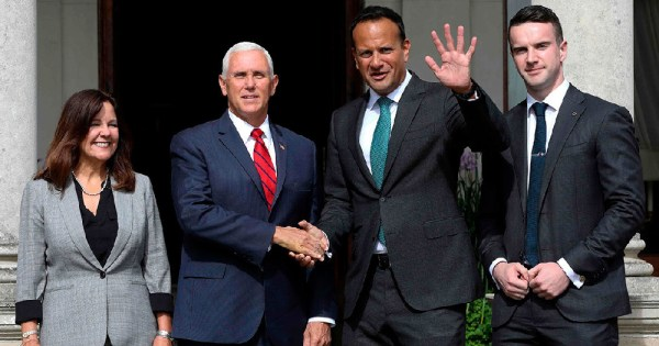 Mike Pence meets Leo