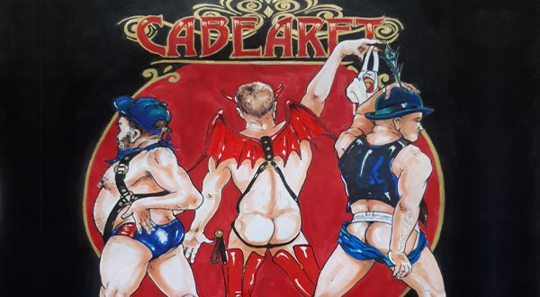 Advertisement for the charity all-male cabaret show