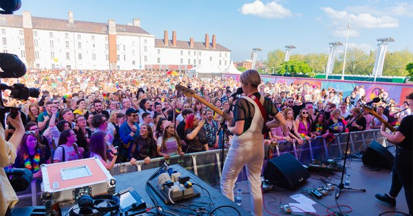 The crowd at Mother Pride Block Party 2019