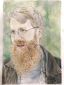 A hand drawn portrait of Jon Hanna