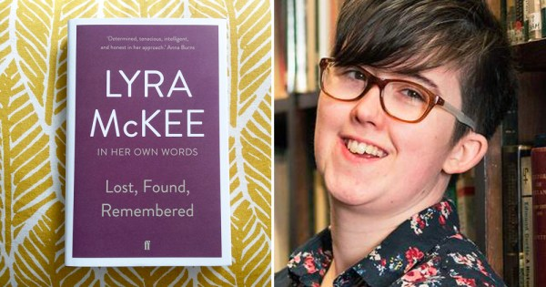 Left: Cover of book Lost, Found, Remembered - Right: Lyra McKee