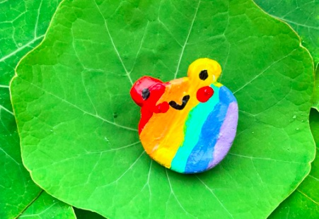 rainbow frog pin for Just Like Us