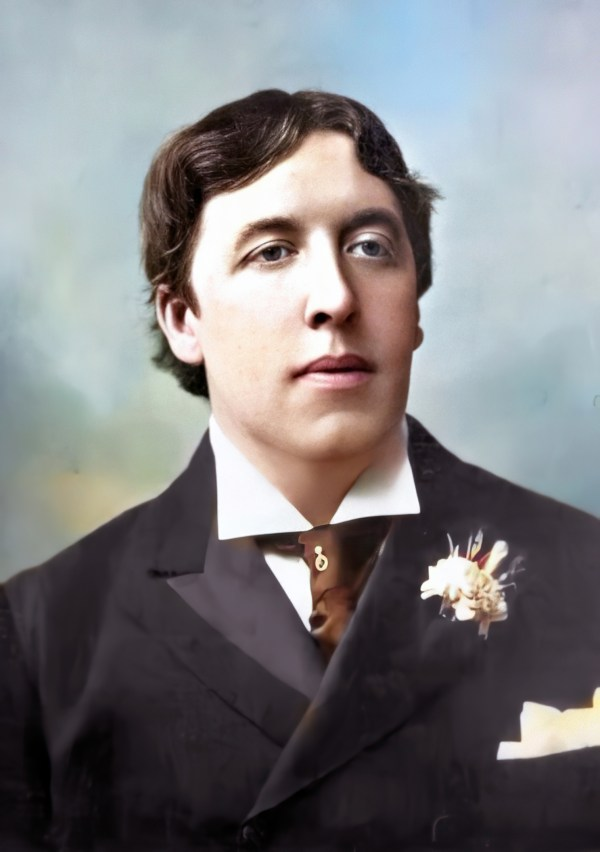 color portrait of Oscar Wilde
