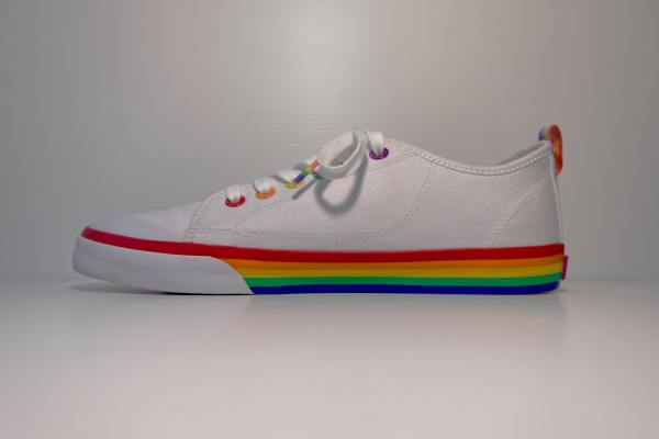 queer Valentine's day gifts lgbt rainbow shoe
