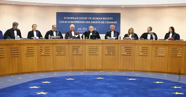 Judges from the European Court of Human Rights. The court voted in favour of trans parental rights in Russia