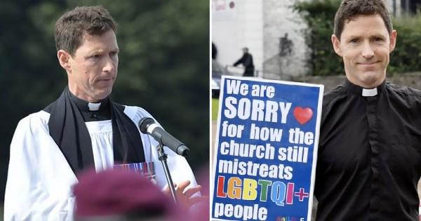 reverend resigned church of Ireland: Split screen of Andrew Rawding