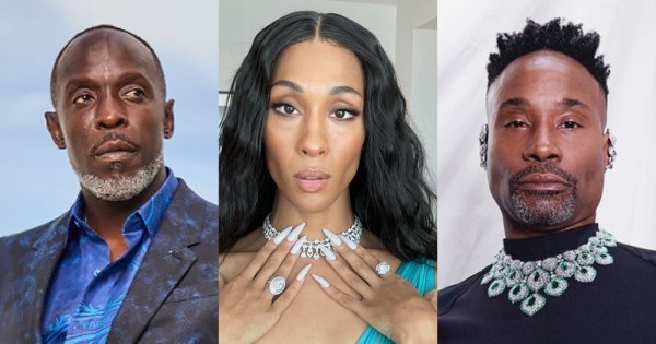 Split screen of actors of colour: Billy Porter, Michael K Williams and Mj Rodriguez