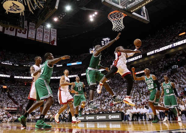 LeBron James & Dwyane Wade Lead Heat Over The Celtics