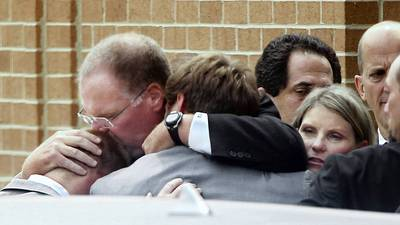 Overwhelming Turnout For Garrett Reid's Funeral