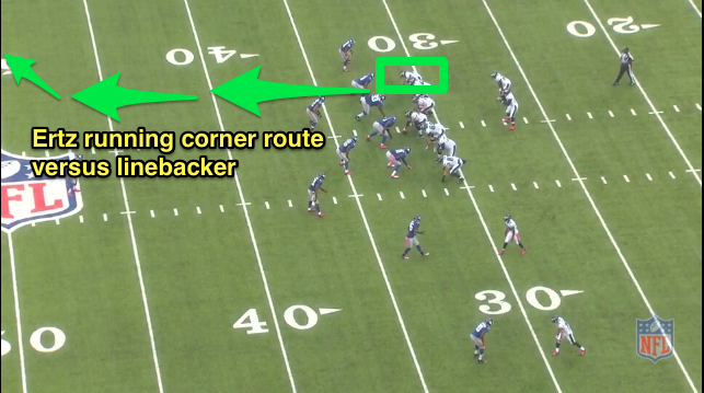 Coach Cobb With Coaching Point For Zach Ertz And His Corner Route