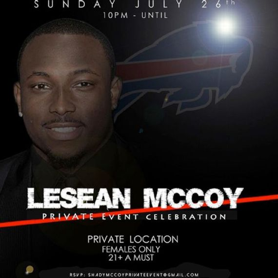 LeSean McCoy Sends Out Female Only Invite For Philly Party