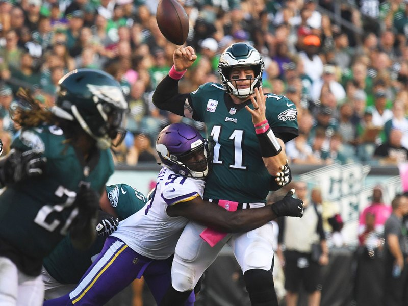 The Eagles Offensive Line Comes Up Short Again