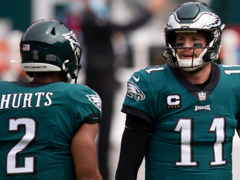 Eagles Sirianni Says They'll Be Competition Between QB's Wentz and Hurts