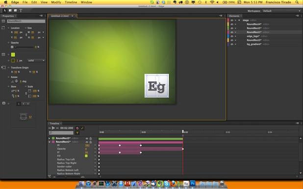 Screenshot Adobe Edge