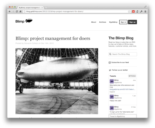 The Blimp Blog