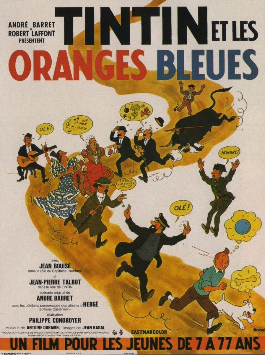 Tintín y las naranjas azules