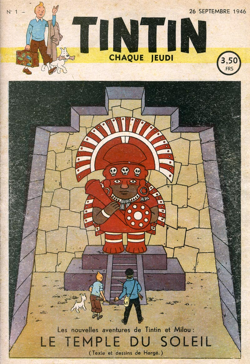 revista-tintin-herge-numero-1-1946-le-temple-du-soleil