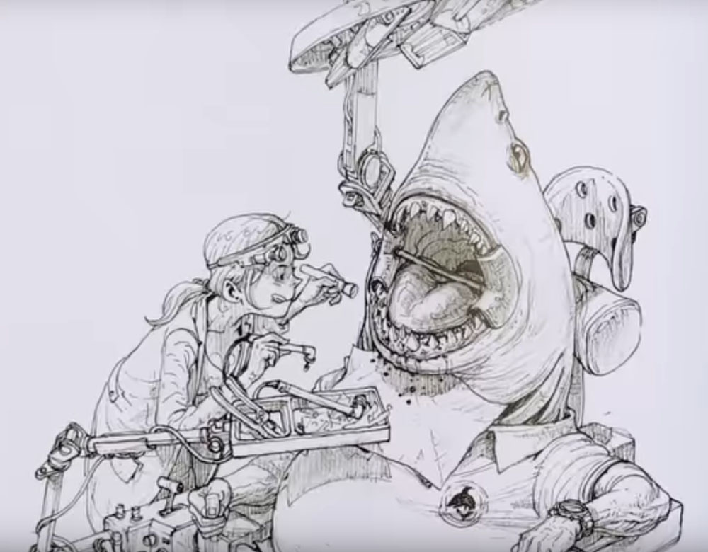 kim-jung-gi-dibujo-tiburon
