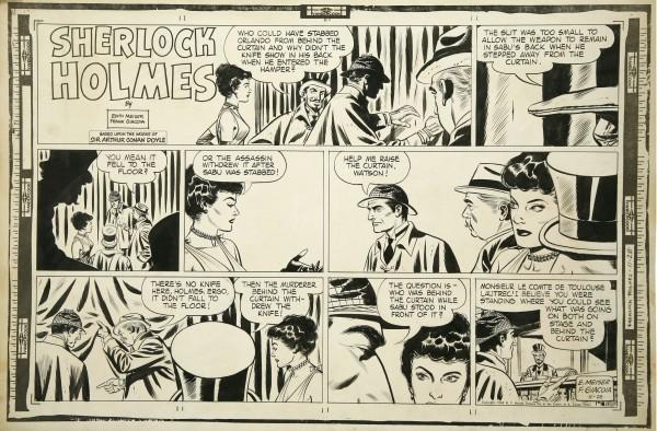 sherlock-holmes-y-el-comic-tira-edith-meiser-frank-giacoia