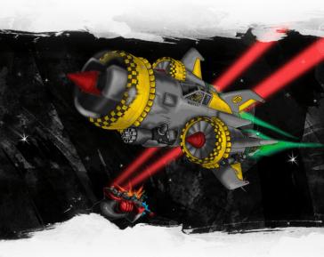 renegade pilot matt clarke spaceship custom design art artist