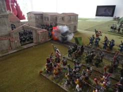 French ( Swiss) advance on the town