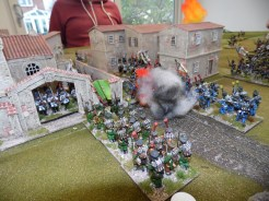 French assaulting the town