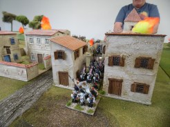Spanish move around the town to help defend against the French columns