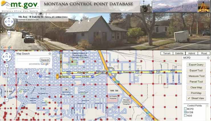 MCPD site integrates several familiar tools such as Google Street View, Google Maps, and Esri ArcGIS.