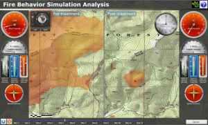 Fire-line simulation analysis ArcGIS web app