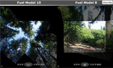 Microsoft photo analysis within wildland fire simulation