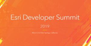 Esri Developer Summit 2019